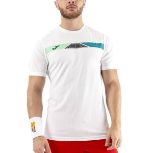 Men's Tennis Shirts Joma Open II Graphic TShirt  White 101447.200