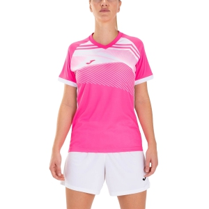 Women`s Tennis T-Shirts and Polos Joma Supernova II TShirt  Fluor Pink/White 901066.030