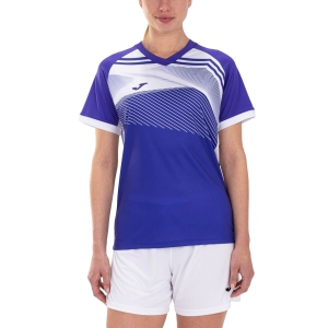 Women`s Tennis T-Shirts and Polos Joma Supernova II TShirt  Purple/White 901066.552