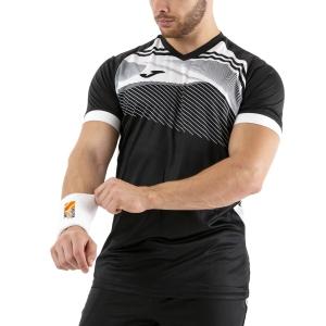Maglietta Tennis Uomo Joma Supernova II Maglietta  Black/White 101604.102