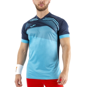 Maglietta Tennis Uomo Joma Supernova II Maglietta  Fluor Turquoise/Dark Navy 101604.013