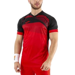 Maglietta Tennis Uomo Joma Supernova II Maglietta  Red/Black 101604.601