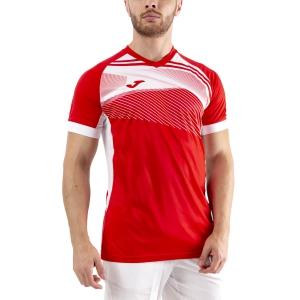 Men's Tennis Shirts Joma Supernova II TShirt  Red/White 101604.602