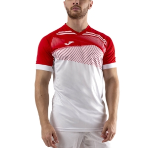 Men's Tennis Shirts Joma Supernova II TShirt  White/Red 101604.206