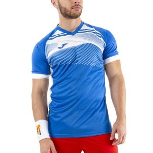 Men's Tennis Shirts Joma Supernova II TShirt  Royal/White 101604.702