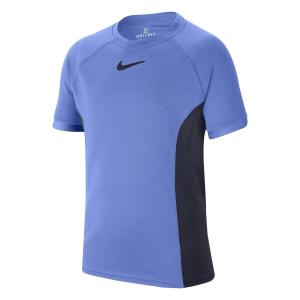 Polo y Camisetas de Tenis Nike Court DriFIT Camiseta Nino  Royal Pulse/Obsidian CD6131478
