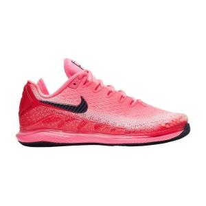 Women`s Tennis Shoes Nike Air Zoom Vapor X Knit HC  Laser Crimson/Blackened Blue/Pink AR8835604