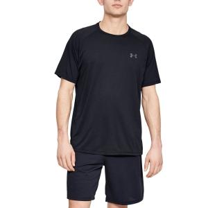 Men's Tennis Shirts Under Armour Tech 2.0 Novelty TShirt  Black/Pitch Gray 13453170001