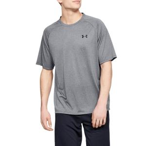 Men's Tennis Shirts Under Armour Tech 2.0 Novelty TShirt  Pitch Gray/Black 13453170012