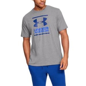 Men's Tennis Shirts Under Armour Foundation TShirt  Steel Light Heather/Versa Blue/American Blue 13268490036