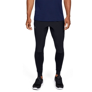 Men's Tennis Pants and Tights Under Armour Hybrid Storm Pants  Black/Pitch Gray 13520290001