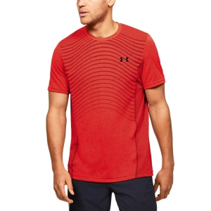 Maglietta Tennis Uomo Under Armour Seamless Wave Maglietta  Red 13514500628