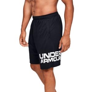 Men's Tennis Shorts Under Armour Wordmark 10in Shorts  Black/White 13516530001