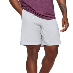 Pantalones Cortos Tenis Hombre Under Armour Woven Graphic 8in Shorts  Halo Gray/White 13096510014
