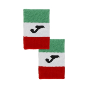 Tennis Wristbands Joma Italy Flag Wristbands  Green/White/Red FIT400300P11