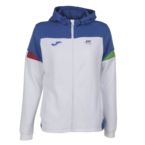 Tracksuit and Hoodie Girl Joma FIT Italy Hoodie Girl  White FIT901274207