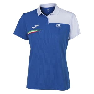 Top e Maglie Girl Joma FIT Italy Polo Bambina  Blue FIT901404702