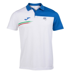 Tennis Polo and Shirts Joma FIT Italy Polo Boy  White FIT101810207