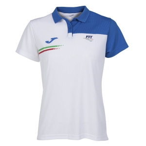 Women`s Tennis T-Shirts and Polos Joma FIT Italy Polo Girl  White FIT901404207
