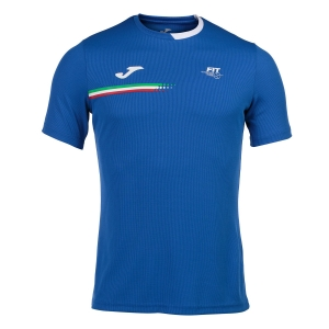 Tennis Polo and Shirts Joma FIT Logo TShirt Boy  Blue FIT101809702