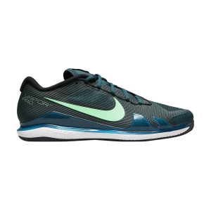 Men`s Tennis Shoes Nike Court Air Zoom Vapor Pro Clay  Dark Teal Green/Green Glow/White/Black CZ0219324
