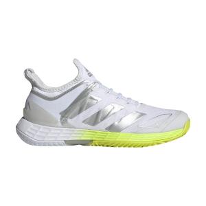 Women`s Tennis Shoes adidas Adizero Ubersonic 4  Ftwr White/Silver Metallic/Solar Yellow FX1368