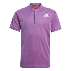 Tennis Polo and Shirts adidas Classic Primeblue Polo Boys  Semi Night Flash Mel/Scarlet GK8164