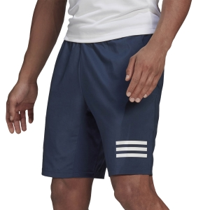 Pantaloncini Tennis Uomo adidas Club 3Stripe 9in Pantaloncini  Crew Navy/White GH7225