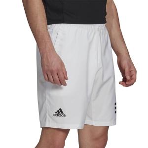 Men's Tennis Shorts adidas Club 3Stripe 9in Shorts  White/Black GL5412