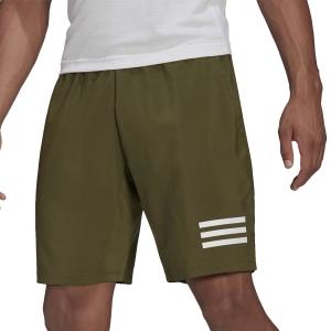 Men's Tennis Shorts adidas Club 3Stripe 9inShorts  Wild Pine/White GP9586