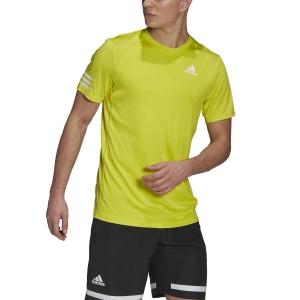 Men's Tennis Shirts adidas Club 3Stripe TShirt  Acid Yellow/White GL5402
