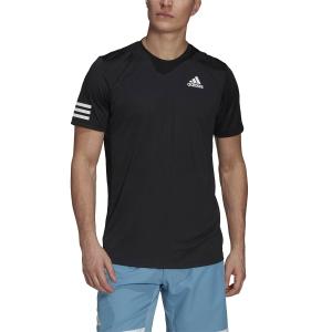 Maglietta Tennis Uomo adidas Club 3Stripe Maglietta  Black/White GL5403