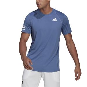 Maglietta Tennis Uomo adidas Club 3Stripe Maglietta  Crew Blue/White GH7227