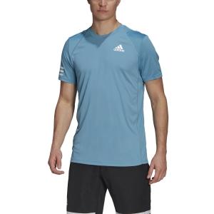 Men's Tennis Shirts adidas Club 3Stripe TShirt  Hazy Blue/White GL5404