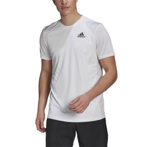 Maglietta Tennis Uomo adidas Club 3Stripe Maglietta  White/Black GL5401