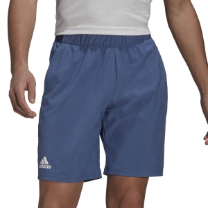 Pantalones Cortos Tenis Hombre adidas Club Stretch Woven 7in Shorts  Crew Blue/White GL5407