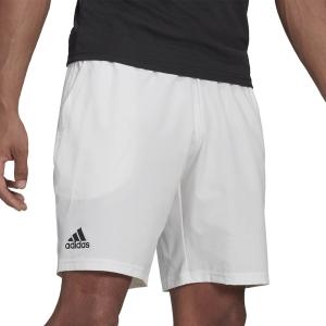 Men's Tennis Shorts adidas Club Stretch Woven 7in Shorts  White/Black GH7222