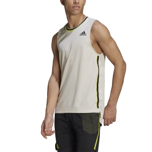 Maglietta Tennis Uomo adidas Doubleknit Primeblue Canotta  Alumina/Wild Pine GH7619
