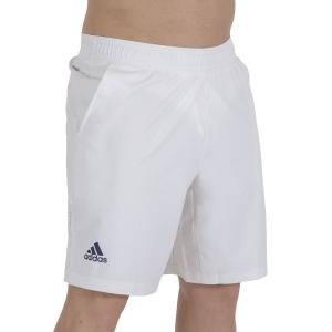 Pantaloncini Tennis Uomo adidas Ergo Primeblue 9in Pantaloncini  White/Crew Navy GU0760