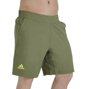 Men's Tennis Shorts adidas Ergo Primeblue 9in Shorts  Wild Pine/Acid Yellow GU0762