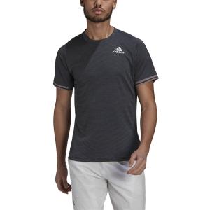 Men's Tennis Shirts adidas Freelift TShirt  Dark Grey Heather/White GL5327