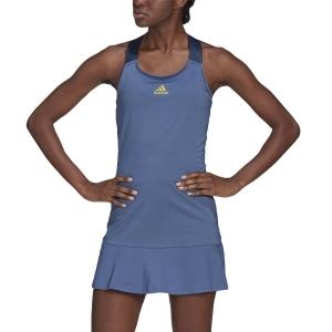 Tennis Dress adidas Gameset Dress  Crew Blue/Acid Yellow GL6204