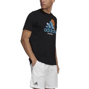 Men's Tennis Shirts adidas Graphic TShirt  Black GN8109