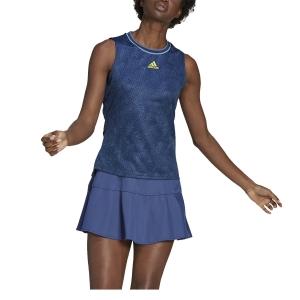 Women`s Tennis Tanks adidas Match Primeblue Tank  Crew Navy/Acid Yellow GQ2241