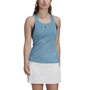 Women`s Tennis Tanks adidas Primeblue HEAT.RDY Tank  Hazy Blue/Cream Navy GH7592
