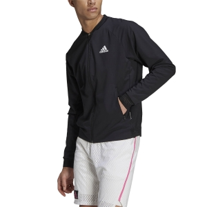 Men's Tennis Jackets adidas Stretch Woven Primeblue Jacket  Black/White GU0766
