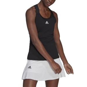 Women`s Tennis Tanks adidas YSign AEROREADY Tank  Black/White GL6050