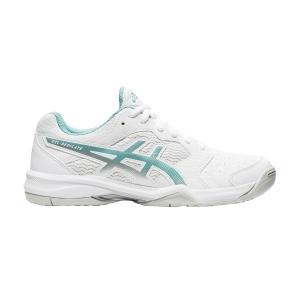 Calzado Tenis Mujer Asics Gel Dedicate 6  White/Techno Cyan 1042A067105