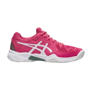 Junior Tennis Shoes Asics Gel Resolution 8 Clay GS Girl  Pink Cameo/White 1044A019702