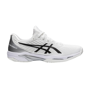 Calzado Tenis Hombre Asics Solution Speed FF 2 Clay  White/Black 1041A187100